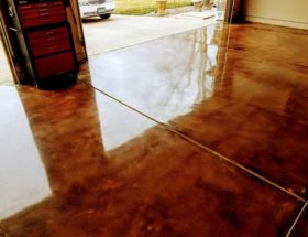 Highly Polished and Stained Concrete